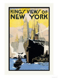 King's Views of New York Poster by H.p. Junker