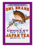 Owl Brand Tea Prints