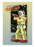 Battery Operated Earth Man Prints