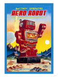 Battery Operated Hero Robot Kunstdruck