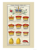 Crowns, Coronets and Mitres Posters by Hugh Clark
