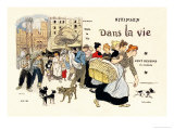 Dans la Vie, c.1900 Prints by Th&#233;ophile Alexandre Steinlen