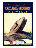 Outline of History by H.G. Wells, No. 23: The Great War and After Poster