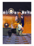 Checking the Tarts Premium Giclee Print by Maxfield Parrish