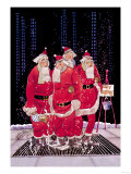 Salvation Army Santas Print