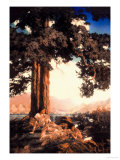 Hilltop Affiches par Maxfield Parrish