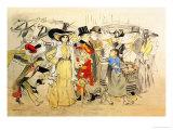 Le Boulevard, c.1900 Prints by Théophile Alexandre Steinlen