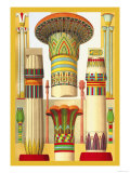 Egyptian Columns Prints by  Racinet