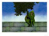 The Green Jester Affiches par Maxfield Parrish