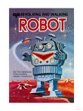 Revolving and Walking Robot Posters