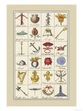Heraldic Symbols: Crossbow and Escallop Prints by Hugh Clark