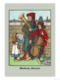 Wandering Musicians, c.1873 Posters by J.e. Rogers
