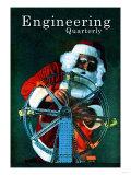 Santa on the Job Print