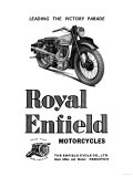 Royal Enfield Motorcycles: Leading the Victory Parade Print