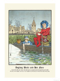 Angling Uncle and His Niece, c.1873 Posters by J.e. Rogers