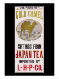 Gold Camel Brand Tea Kunstdrucke