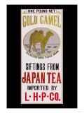 Gold Camel Brand Tea Print