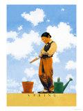 Frühling Poster von Maxfield Parrish
