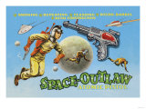 Space Outlaw Atomic Pistol Print