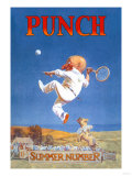 Punch: Gnome Playing Tennis Photo