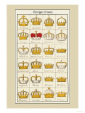 Foreign Crowns: Bohemia, Sardinia Kunstdruck von Hugh Clark