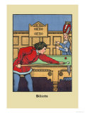 Billiards, c.1873 Posters by J.e. Rogers
