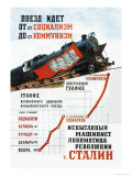 Train is Moving from the Socialist Station Posters by Pavel Sokolov-skalya