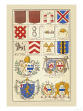 Heraldic Arms: Tenne and Sanguine Prints by Hugh Clark