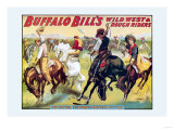 Buffalo Bill: Cowboy Fun, The Bronco Busters Busy Day Premium Giclee Print