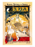 Le Reve Posters by Th&#233;ophile Alexandre Steinlen