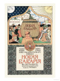 Russian Beer Advertisement Prints by Ivan Bilibin
