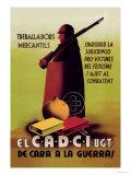 Socialist Trade Union Poster Kunstdruck von I. Vicens