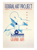 Federal Art Project: Exhibition of Graphic Arts Affischer