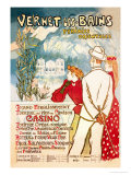 Vernet-les-Bains: Pyrenees Orientales, c.1896 Poster by Th&#233;ophile Alexandre Steinlen