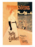 Ambassadeurs: Yvette Guilbert, Tous les Soirs, c.1894 Prints by Théophile Alexandre Steinlen