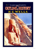 Outline of History by H.G. Wells, No. 5: Exploration Posters