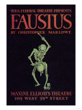 Faustus Presented by the WPA Federal Theater Division Posters