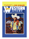 Western Story Magazine: Hot Lead Payoff Art