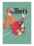 Collier's National Weekly, When the Press Get Tackled Art