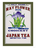 May Flower Brand Tea Prints