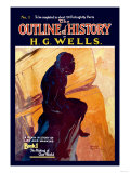 Outline of History by H.G. Wells, No. 1: The Making of Our World Prints