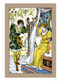 The Frog Prince, The Transformation, c.1900 Prints by Walter Crane