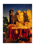 Scene from Snow White Posters af Maxfield Parrish