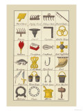 Heraldic Symbols: Wool Card and Jersey Comb Posters by Hugh Clark