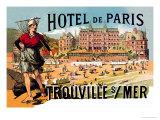 Hotel de Paris: Trouville-sur-Mer, c.1885 Prints by Théophile Alexandre Steinlen