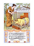 There Was a Lady Loved a Swine, c.1885 Prints by Walter Crane
