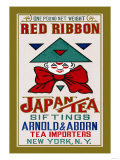Red Ribbon Brand Tea Poster