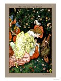 Beauty and the Beast, In the Woods, c.1900 Prints by Walter Crane