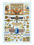 Egyptian Jewelry Prints by  Racinet