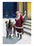 Santa and Street Kids Posters by Paul Stahr